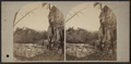 View to the east of and below the Falls, showing the character of the Rocks through which the River has forced a passage, from Robert N. Dennis collection of stereoscopic views.png