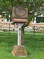 Village nameboard at Hail Weston. - geograph.org.uk - 173746.jpg
