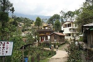 Khecheopalri Lake - Khecheolpalri Village setting near the lake