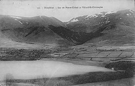 Villard-Saint-Cristophe and the Pierre-Châtel Lake at the start of the 20th century