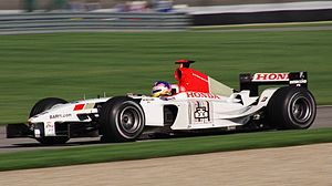 BAR 005 - Jacques Villeneuve driving the 005 at the 2003 United States Grand Prix