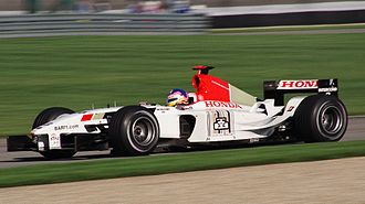 David Richards (motorsport) - Jacques Villeneuve driving for the then Prodrive-run BAR team at the US Grand Prix at Indianapolis in 2003