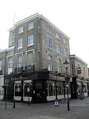 Vintners Parrot - The building from the northeast