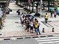 Visitor line cross through Sec. 1, Changsha Street 20140705a.jpg