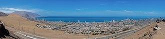 Iquique - Panoramic view of Iquique.