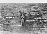 Vought OS2U Kingfisher with rescued airmen off Truk on 1 May 1944 (80-G-227991).jpg
