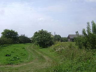 Wólka Dworska Village in Masovian, Poland