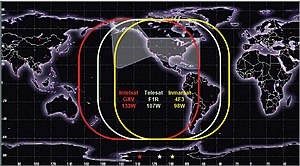 Wide Area Augmentation System -  Current WAAS satellite signal footprint