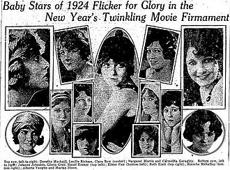 "Clara Bow - Bow was chosen the foremost ""baby"" by WAMPAS"