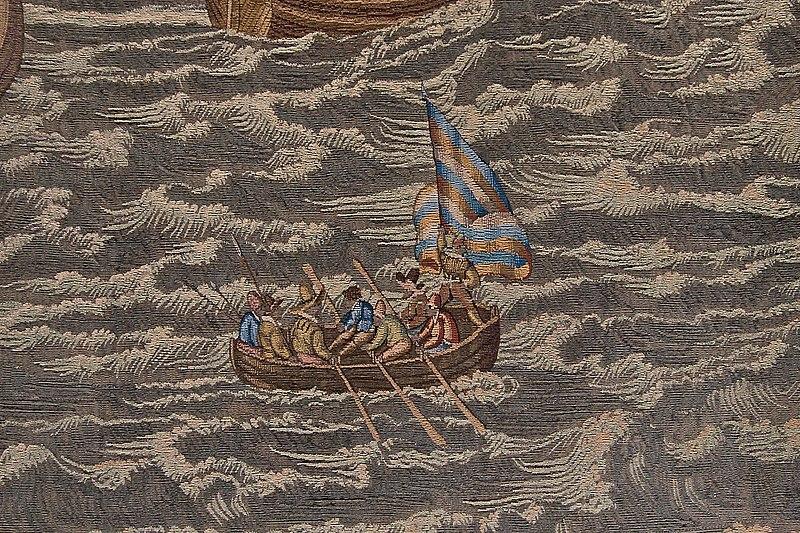 Bestand:WLANL - Mischa de Muynck - wandtapijt De slag voor Lillo, Hendrick de Maecht, 30 mei 1574 mischademuynck2009.jpg
