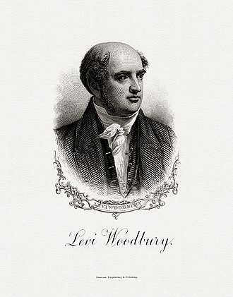 Levi Woodbury - BEP portrait of Woodbury as Secretary of the Treasury