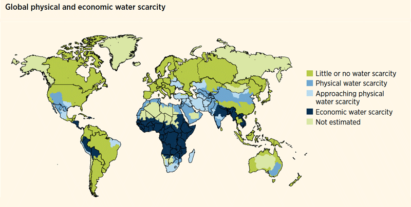 WWDR4 Global physical and economic water scarcity