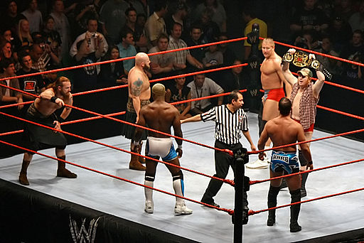 WWE-Triple-Threat-Tag-Title-Match,-RLA-Melb-10.11.2007