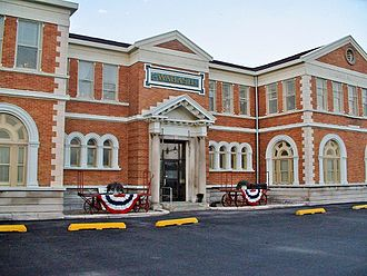 Decatur station (Illinois) - Image: Wabash Railroad Station and Railway Express Agency