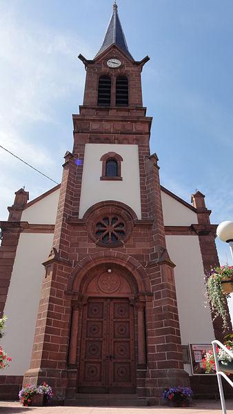 Alsace, Bas-Rhin, Wahlenheim, Église de L'Assomption-de la-Bienheureuse-Vierge-Marie (IA00061806).