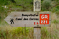 Walkway-Sign of the Longdistance-Walkway GR-221 on Mallorca.jpg