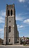 Stone church tower of Walnut Hills Presbyterian Church, without its church