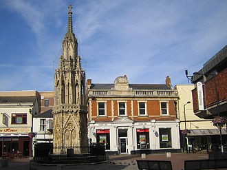 Eleanor cross - Eleanor cross in the town centre of Waltham Cross, Hertfordshire