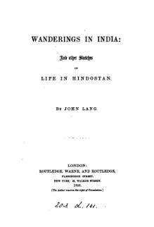 Wanderings in India, and Other Sketches of Life in Hindostan.djvu