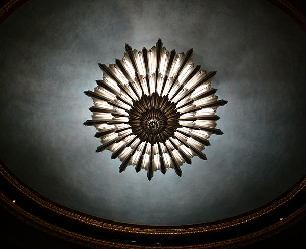 War Memorial Opera House auditorium chandelier.jpg