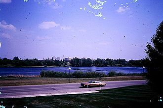 Regina, Saskatchewan - Wascana Centre in 1970, eight years after it was established.
