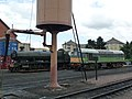 Water tower and locomotives, West Somerset Railway, Minehead - geograph.org.uk - 1715964.jpg