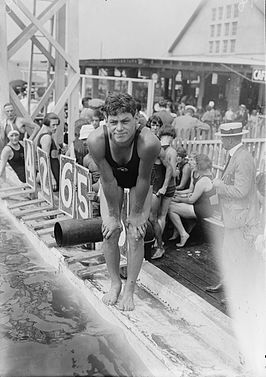Johnny Weissmuller in de jaren 20