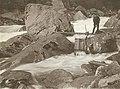 Wenatchi man fishing at trap, Tumwater canyon, Wenatchee River, Washington 1907.jpg