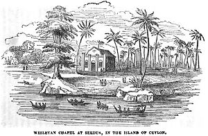 Wesley College, Colombo - Image: Wesleyan Chapel at Seedua, in the Island of Ceylon (May 1846, p.50, III) Copy