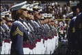 West Point graduating class of 1980. Cadets stand at attention during graduating ceremony. Nearly 900 cadets were in... - NARA - 530632.tif