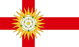 Flags and symbols of Yorkshire - Image: West Riding Flag