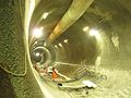 Westbound Crossrail tunnel, looking east (11421356855).jpg