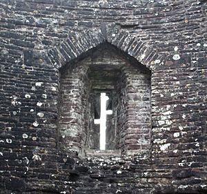 Arrowslit - An arrowslit at White Castle, Wales.