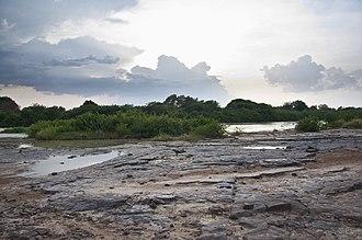 White Volta - White Volta in the dry season (Ghana)