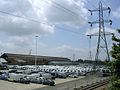 White vans in waiting and factory building, Western Docks, Millbrook - geograph.org.uk - 25235.jpg