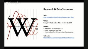 File:Wikimedia Research & Data Showcase - February 2014.webm