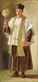 Wilhelm Marstrand - Romersk præst med vievandskost. Studie.png