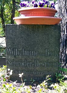 Wilhelmine Schröder-Devrients Grab auf dem Trinitatisfriedhof in Dresden (Quelle: Wikimedia)