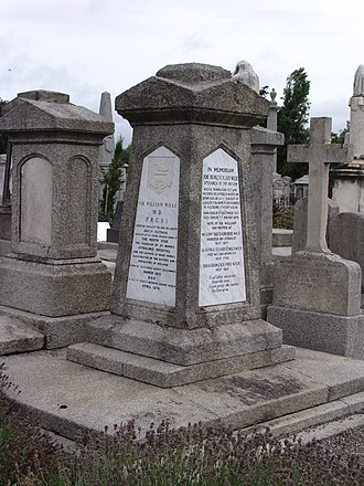 Jane Wilde - Memorial to Lady Wilde and her husband located in Mount Jerome Cemetery, Dublin