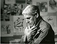Willem de Kooning in his studio.jpg