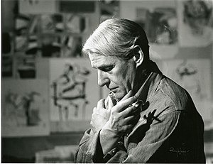 Willem de Kooning - De Kooning in his studio in 1961