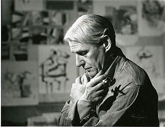 Willem de Kooning - De Kooning in his studio in 1961