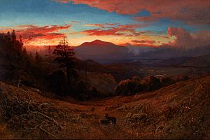 William Keith (artist) - Image: William Keith Sunset on Mount Diablo (Marin Sunset) Google Art Project