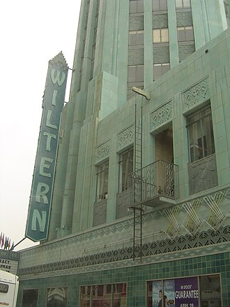 Pellissier Building and Wiltern Theatre - The façade of the building