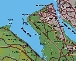 Map Of Wirral Wirral Peninsula   Wikipedia