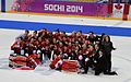 Women's tournament, 2014 Winter Olympics, Gold medal team Canada.jpg