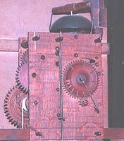Wooden movement from Seth Thomas longcase clock.jpg