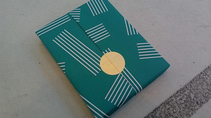 File:Wrapped book from the Boekhandel van der Velde as a gift, Groningen (2019) 02.jpg