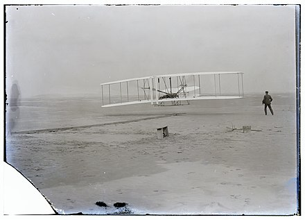 5×7 inch unretouched photograph of the Wright brothers' first flight, 1903 - Photography