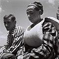 """YOUNGSTERS RESCUED FROM THE BUCHENWALD NAZI CONCENTRATION CAMP ON BOARD THE """"MATAROA"""" IN HAIFA PORT. ילדים, ניצולי שואה ממחנה בוכנוואלד, מגיעים לנמל חD820-068.jpg"""